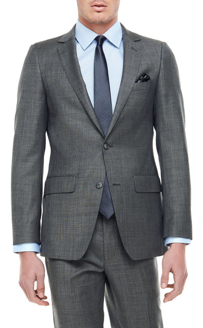 Lachlan Charcoal Slim Fit Wool Suit