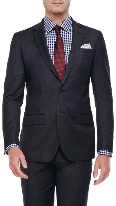 Bell & Barnett Slim Fit Wool Suit in Charcoal