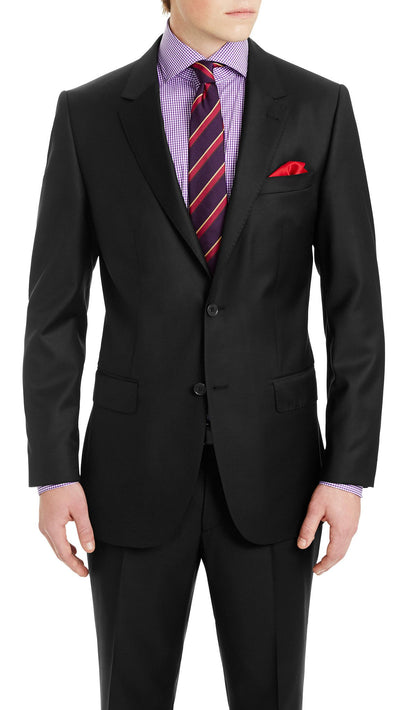 Daniel Hechter Pure Wool Suit in Black