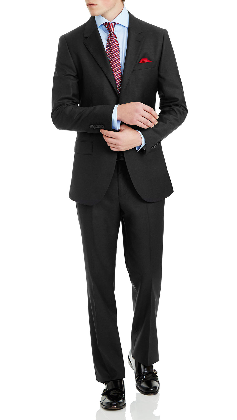 Nicholby & Harvard Super 120's Suit in Charcoal - Ron Bennett Menswear  - 3