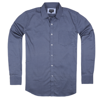 Bennett Long Sleeve Smart Casual Shirt in Navy - Ron Bennett Menswear  - 1