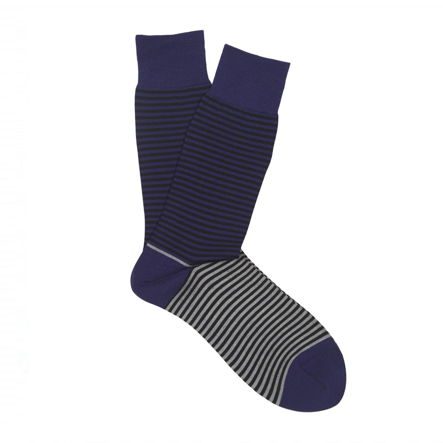 Ron Bennett Mercerised Cotton Socks in Purple - Ron Bennett Menswear
