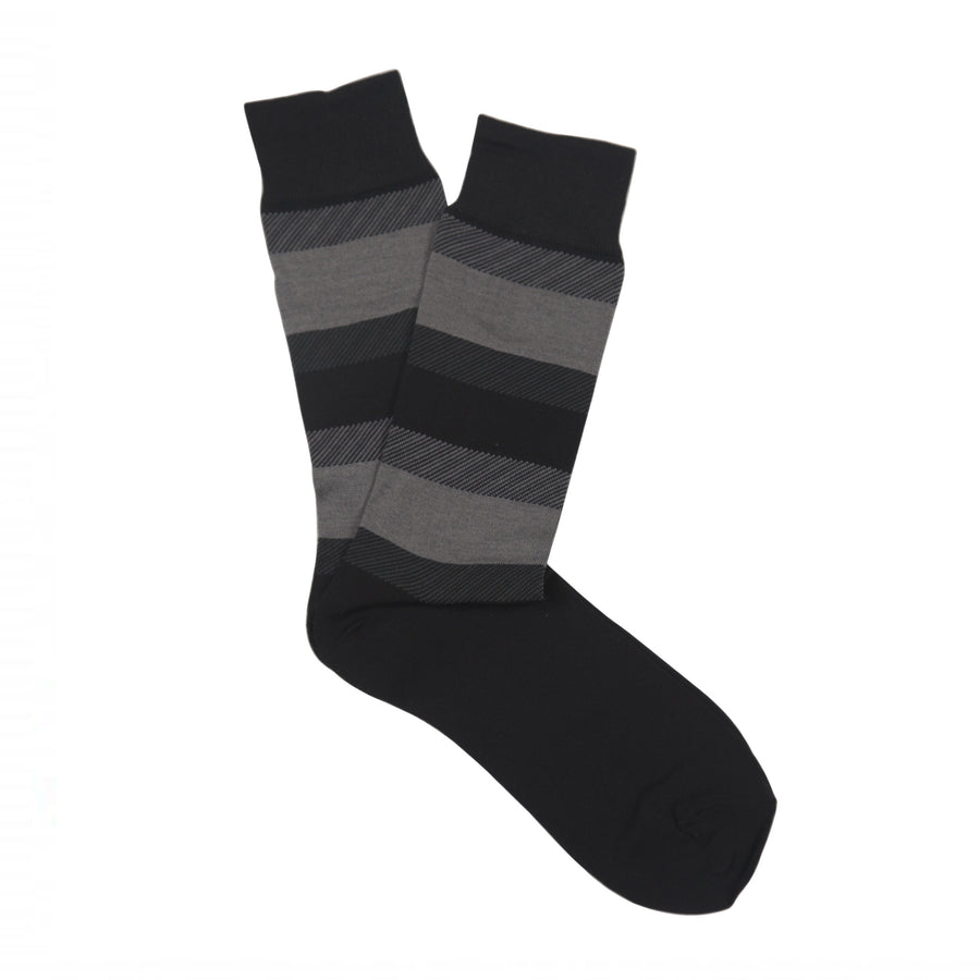 Ron Bennett Mercherised Cotton Socks in Grey - Ron Bennett Menswear