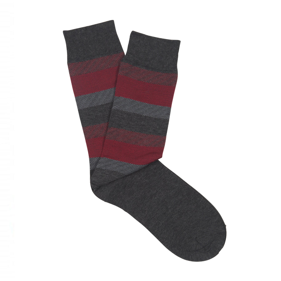 Ron Bennett Mercherised Cotton Socks in Burgandy - Ron Bennett Menswear