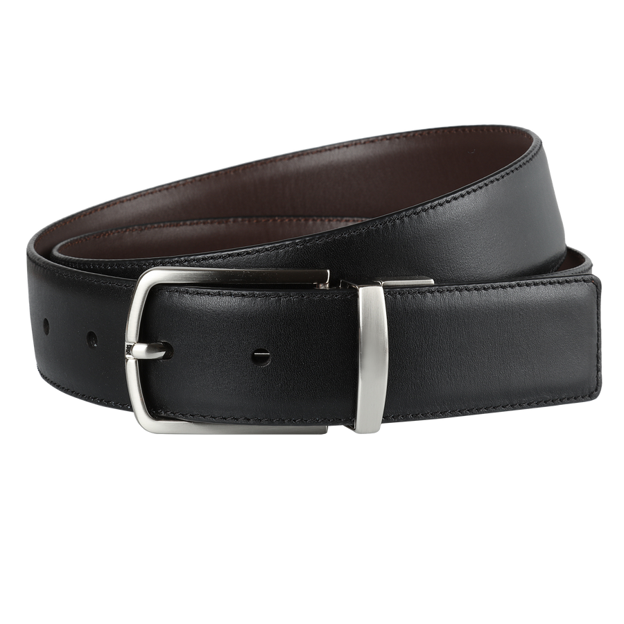 Ron Bennett Reversible Leather Belt in Brown / Black