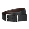Ron Bennett Reversible Leather Belt in Black / Brown - Ron Bennett Menswear  - 1