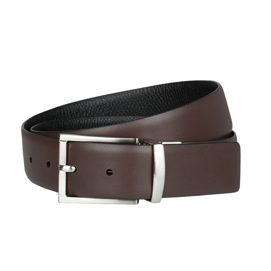 Ron Bennett Reversible Leather Belt in Black / Brown
