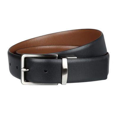 Ron Bennett Reversible Leather Belt in Tan / Black - Ron Bennett Menswear  - 2