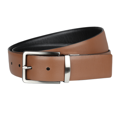Ron Bennett Reversible Leather Belt in Tan / Black - Ron Bennett Menswear  - 1