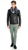 Bennett Leather Bomber Jacket in Black - Ron Bennett Menswear  - 6