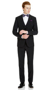 Blackjacket Skinny Fit Suit in Black - Ron Bennett Menswear  - 2