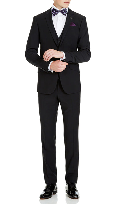 Blackjacket Skinny Fit Suit in Black - Ron Bennett Menswear  - 1