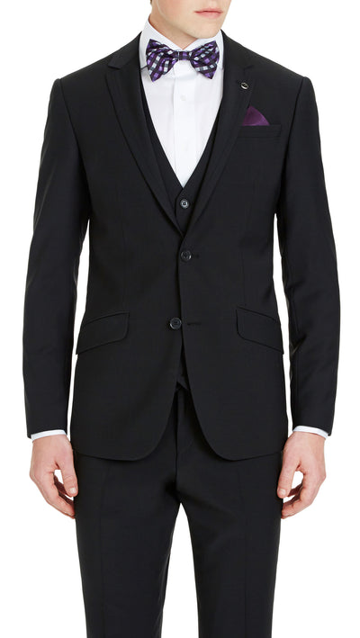 Blackjacket Skinny Fit Suit in Black - Ron Bennett Menswear  - 3
