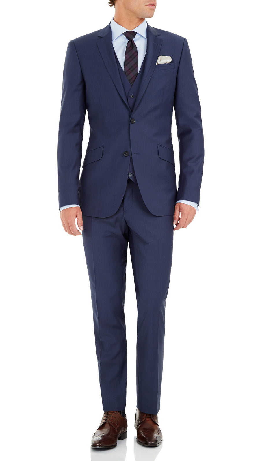 Blackjacket Skinny Fit Suit in Blue - Ron Bennett Menswear  - 2