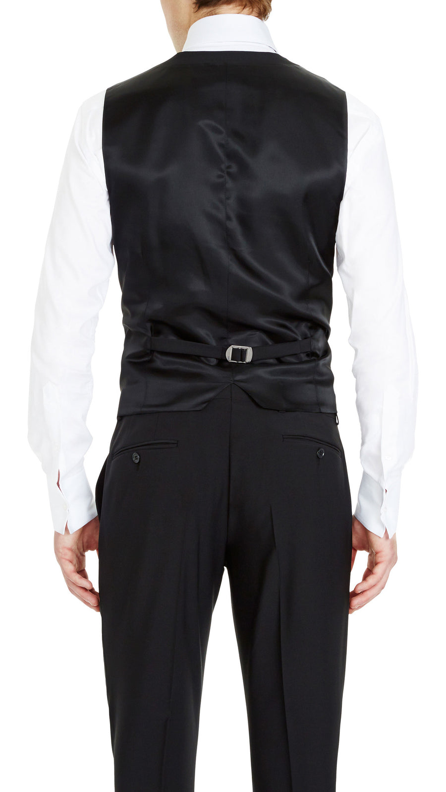 Blackjacket Skinny Fit Vest in Black - Ron Bennett Menswear  - 1