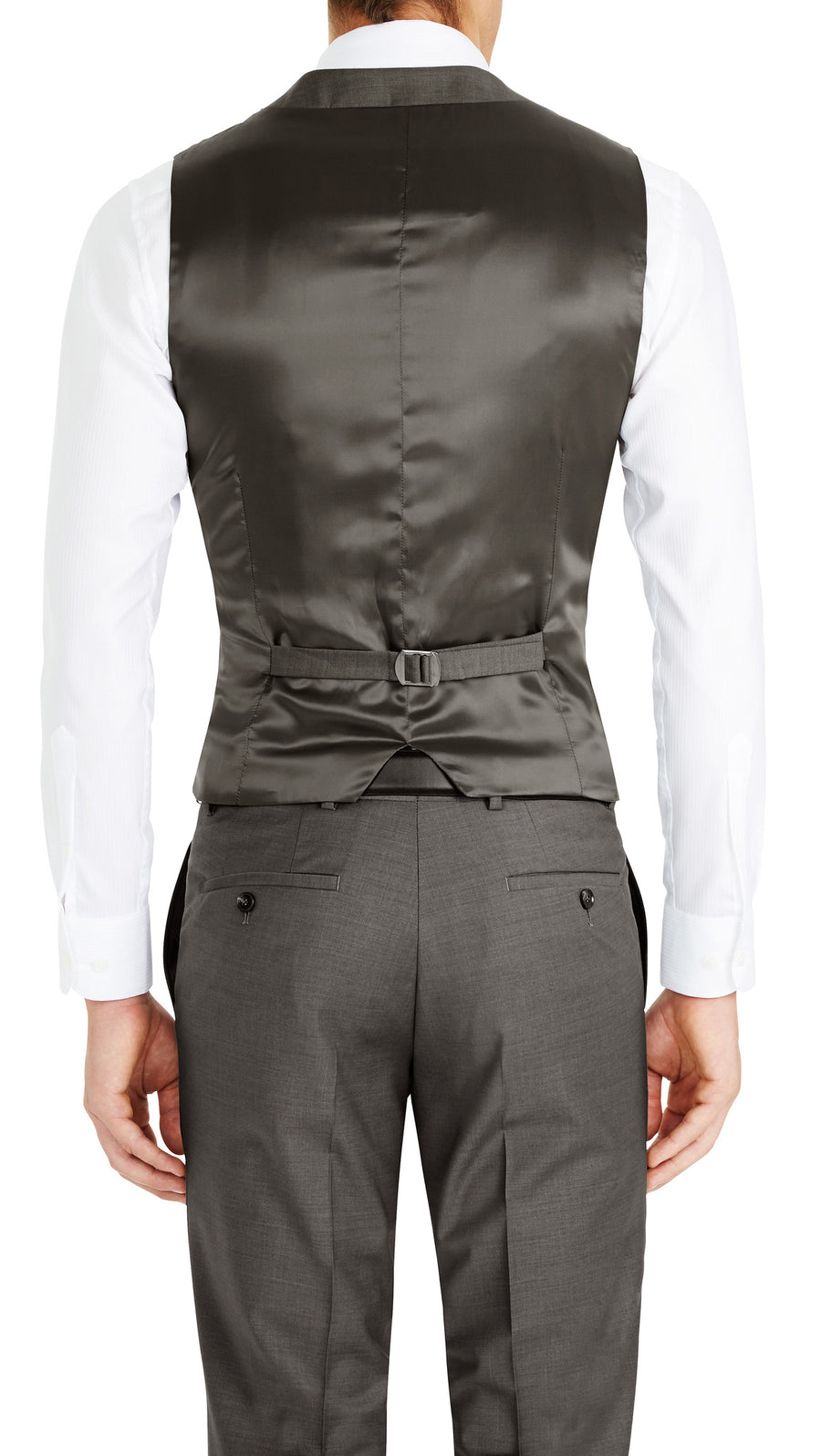 Blackjacket Skinny Fit Vest in Grey - Ron Bennett Menswear  - 1