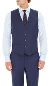 Blackjacket Skinny Fit Vest in Blue
