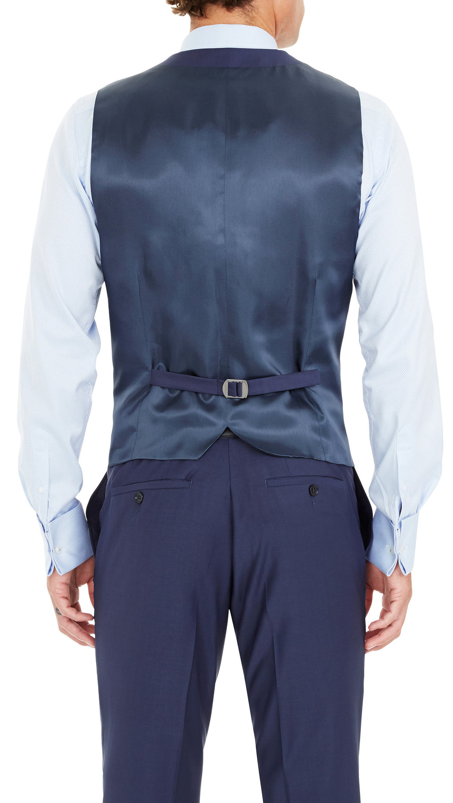 Blackjacket Skinny Fit Vest in Blue - Ron Bennett Menswear  - 1