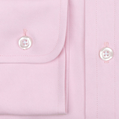 Bennett Signature Business Shirt in Pink - Ron Bennett Menswear  - 3