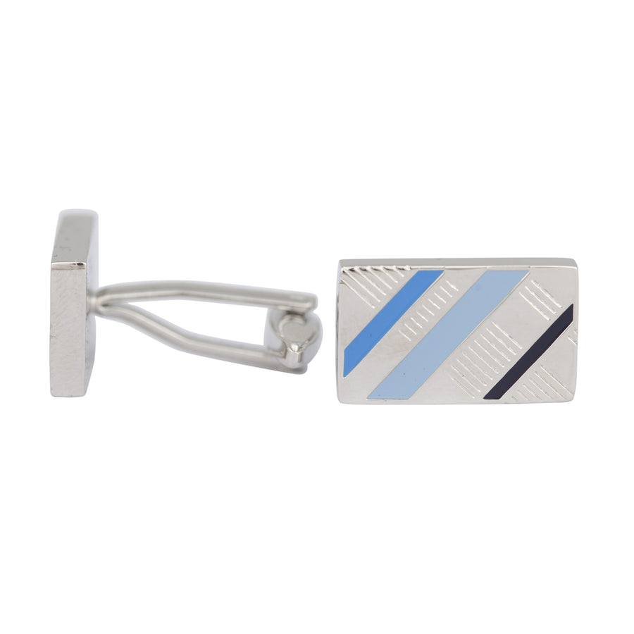 Ron Bennett Cufflinks in Blue - Ron Bennett Menswear