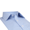 Bennett Signature Business Shirt in Blue Check - Ron Bennett Menswear  - 4