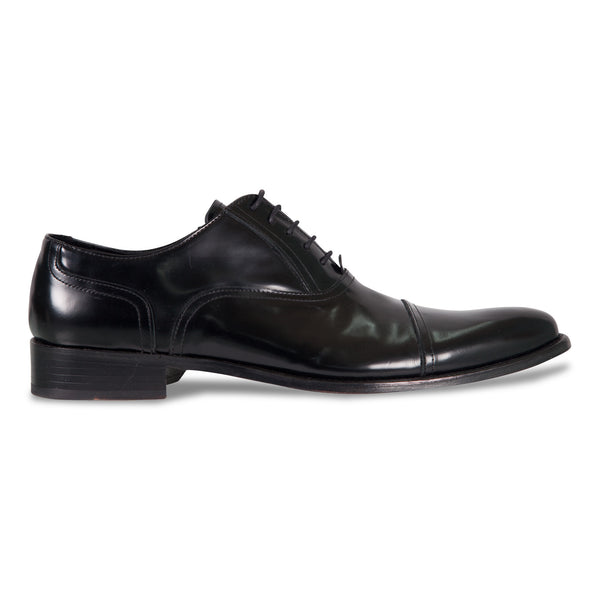 Bennett Lace Up Leather Shoes in Black - Ron Bennett Menswear  - 1