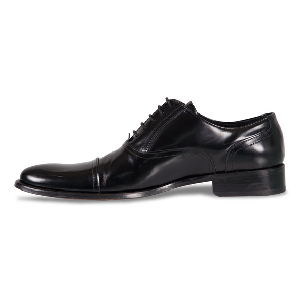 Bennett Lace Up Leather Shoes in Black - Ron Bennett Menswear  - 3