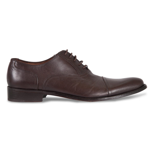 Bennett Lace Up Leather Shoes in Dark Brown - Ron Bennett Menswear  - 1