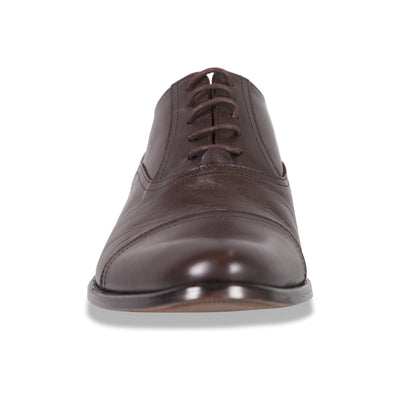 Bennett Lace Up Leather Shoes in Dark Brown - Ron Bennett Menswear  - 2