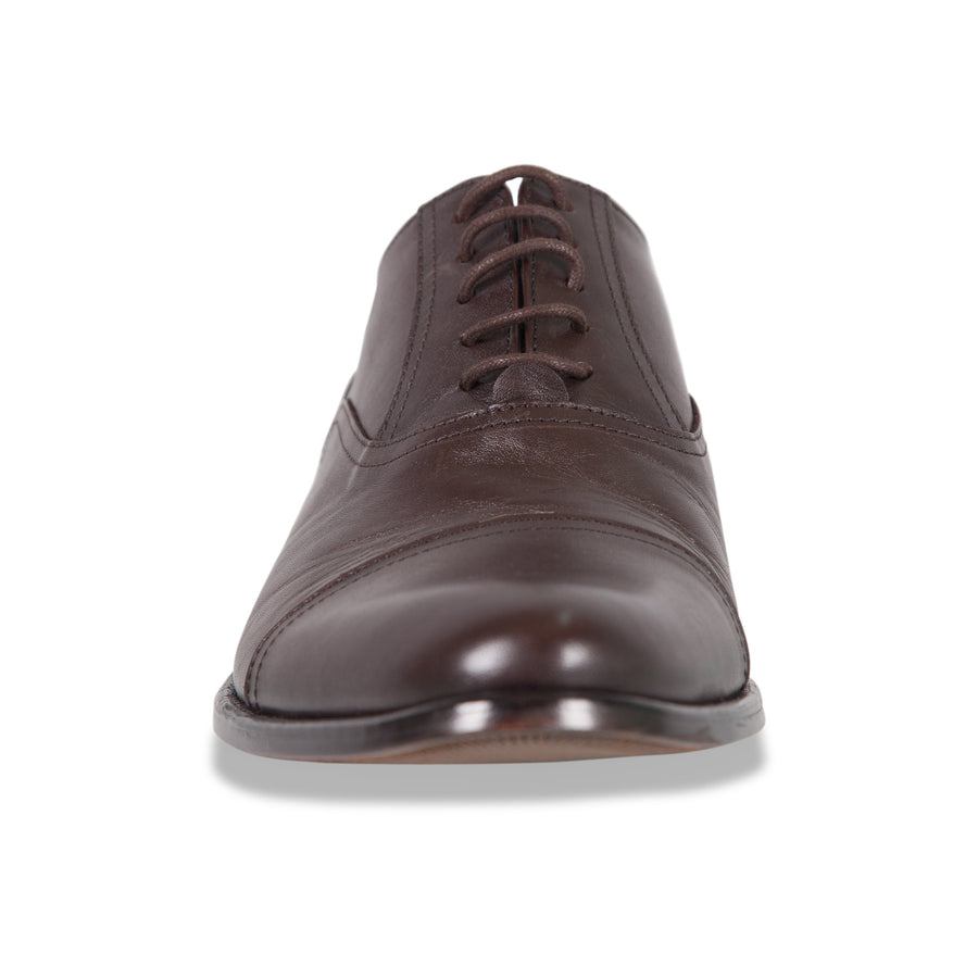 Bennett Lace Up Leather Shoes in Dark Brown