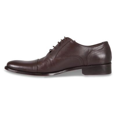 Bennett Lace Up Leather Shoes in Dark Brown - Ron Bennett Menswear  - 3