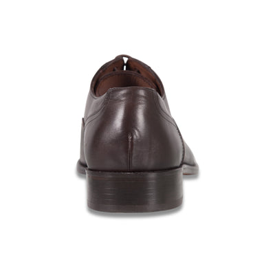 Bennett Lace Up Leather Shoes in Dark Brown - Ron Bennett Menswear  - 4