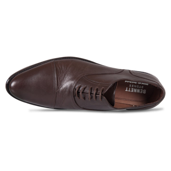 Bennett Lace Up Leather Shoes in Dark Brown - Ron Bennett Menswear  - 5