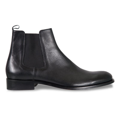 Bennett Leather Boots in Black - Ron Bennett Menswear  - 1