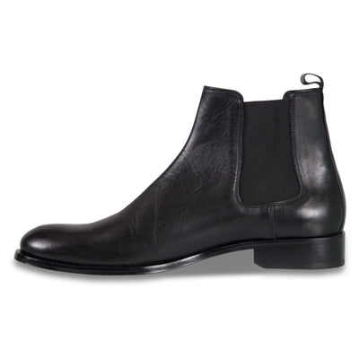 Bennett Leather Boots in Black - Ron Bennett Menswear  - 3