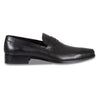 Bennett Leather Slip On Shoes in Black - Ron Bennett Menswear  - 1