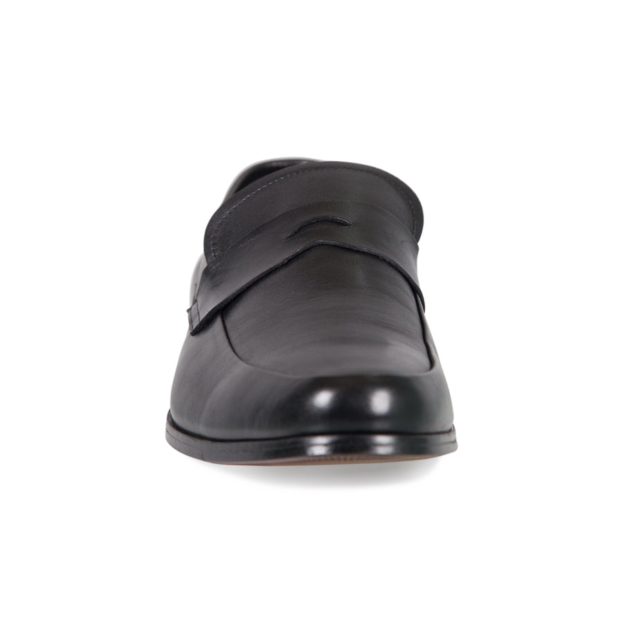 Bennett Leather Slip On Shoes in Black