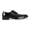 Bennett Double Monk Leather Shoes in Black - Ron Bennett Menswear  - 1