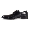 Bennett Double Monk Leather Shoes in Black - Ron Bennett Menswear  - 3