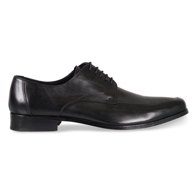 Bennett Lace Up Shoes in Black in Black - Ron Bennett Menswear  - 1