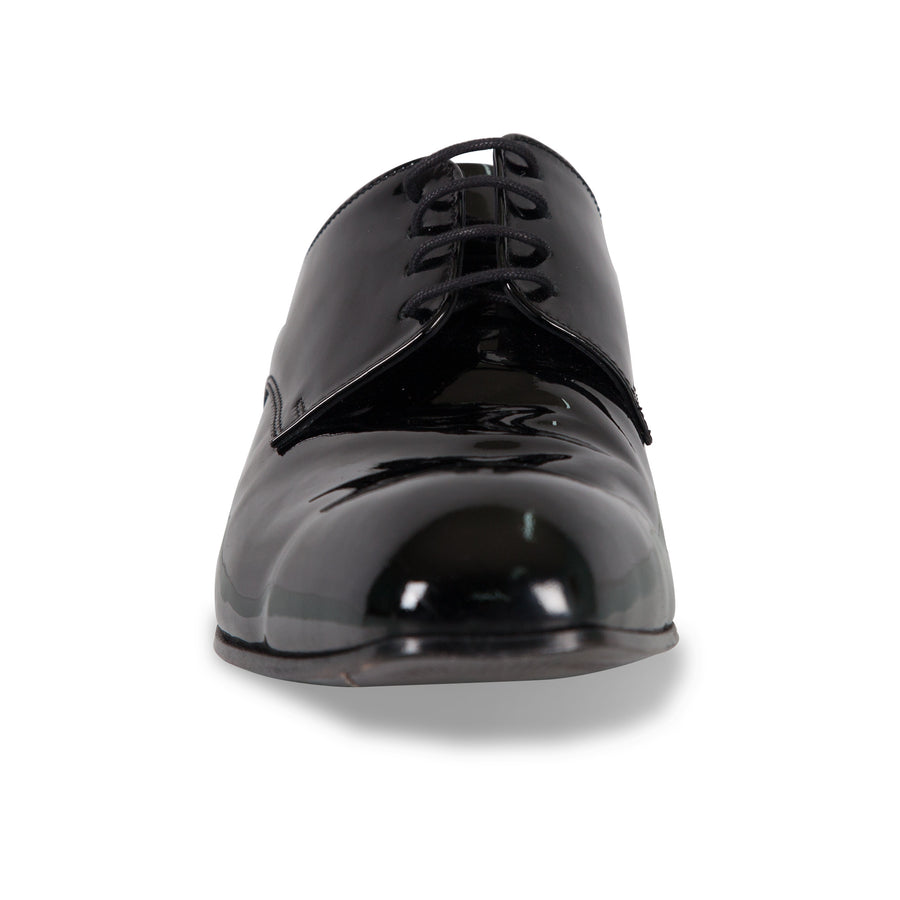 Bennett Patent Leather Shoes in Black - Ron Bennett Menswear  - 1