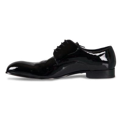 Bennett Patent Leather Shoes in Black - Ron Bennett Menswear  - 3