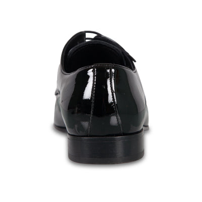 Bennett Patent Leather Shoes in Black - Ron Bennett Menswear  - 4