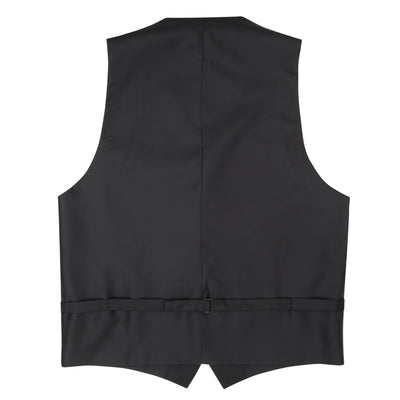Formal Satin Vest in Black Twill - Ron Bennett Menswear  - 4