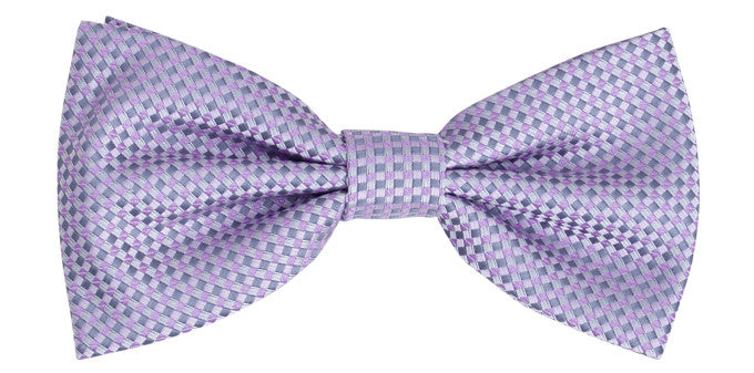 Bennett Stay Handsome Bow Tie in Lilac - Ron Bennett Menswear