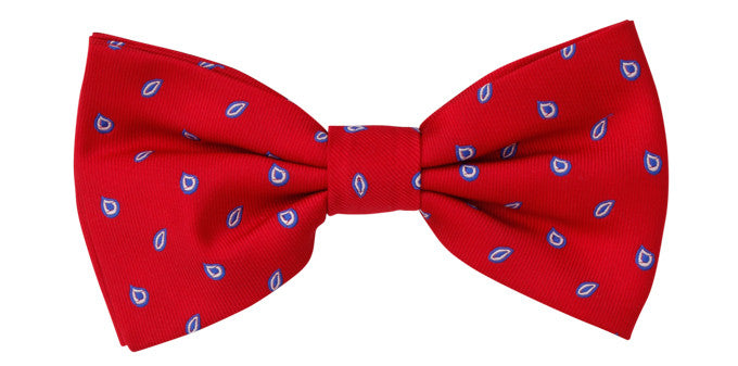 Bennett Stay Handsome Bow Tie in Red - Ron Bennett Menswear
