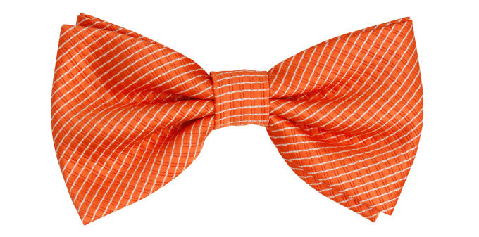Bennett Stay Handsome Bow Tie in Orange - Ron Bennett Menswear