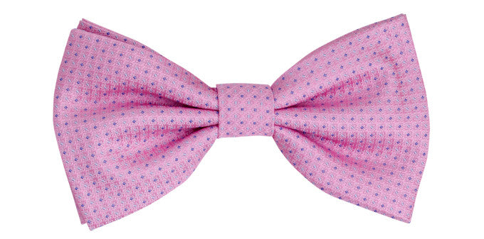 Bennett Stay Handsome Bow Tie in Pink - Ron Bennett Menswear
