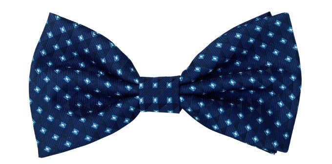 Bennett Stay Handsome Bow Tie in Dark Blue - Ron Bennett Menswear