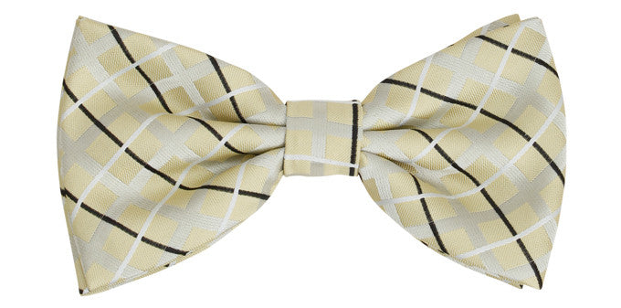 Bennett Stay Handsome Bow Tie in Lemon - Ron Bennett Menswear